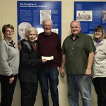Cancer Center Community Crusaders Receive Donation from the Eagles Auxiliary