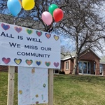 Residents of CLR Post Messages to the Community