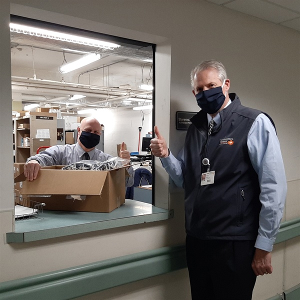 SVHC Accepts Delivery of Cloth Masks from Orvis